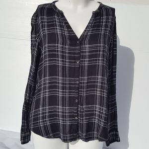 Calvin Klein | Black & White Flannel Top size XL